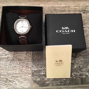 Coach watch in box. Pristine condition.